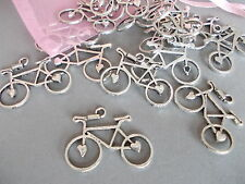 20 X BICYCLE, BIKE,CYCLE ANTIQUE SILVER TIBETAN METAL CHARMS/PENDANTS