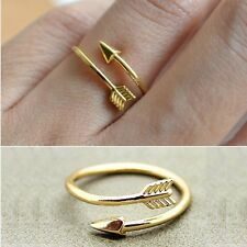 Fashion Gold Women Bypass Arrow Knuckle Midi Finger Clutch Adjustable Toe Ring