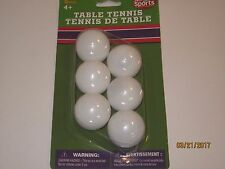 Ping Pong Balls 6 pack - Table Tennis, Beer Pong Games, Toys, Sports, Play