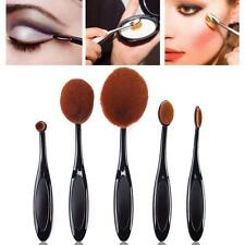 5pcs Toothbrush Shaped Foundation Power Makeup Oval Cream Puff Brushes Set