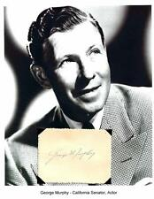 George Murphy Autograph Senator California President Screen Actors Guild Oscar