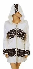 129870 New Free People Embroidered Ivory Oversized Hoodie Jacket Coat Top S