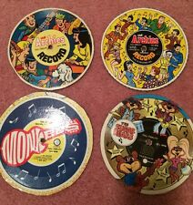 Cereal Box Records Set Of 4 Monkees, Archie's, Sugar Bear Never Played