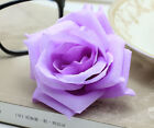 20 pcs 8cm Rose simulation flowers silk flower heads wedding wholesale purple
