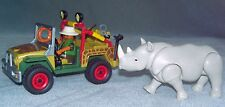 PLAYMOBIL SAFARI/ ZOO SET WITH  JEEP & RHINO AND ACCESSORIES Discontinued VGC