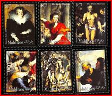 MALDIVES 2000 famous PAINTINGS MNH RUBENS, HORSES, COSTUMES