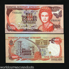 BERMUDA $100 P49 1997 BUTTERFLY QUEEN ASSEMBLY UNC WORLD CURRENCY CARIBBEAN NOTE