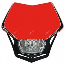 Racetech V-face Headlight Universal Fitting Honda RED Moto Enduro Motard