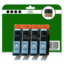 4 Black Chipped Compatible Ink Cartridges for HP 7510 7520 B8550 B8553 364 XL