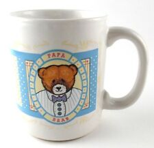 Papa Bear Teddy Bear Coffee Cup Mug Daddy Dad New Father Bear in Bow Tie