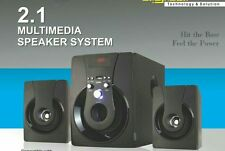 2.1 HD AUDIO HOME THEATRE SPEAKER SYSTEM WITH USB, AUX & FM- BLACK