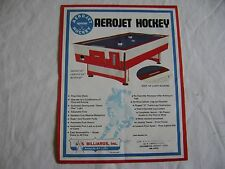 1973 US Billiards AeroJet Hockey, Air Hockey game Original sales flyer brochure