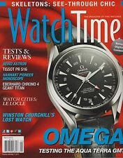 WATCH TIME,THE MAGAZINE OF FINE WATCHES APRIL 2013.