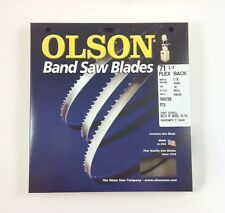 """Olson Band Saw Blade 71-3/4"""" to 72"""" x 1/8"""", 14TPI for Delta 28-140 & others, USA"""