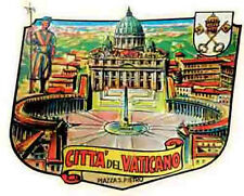 Vatican City  ROME  Italy     Vintage-Looking Travel Decal/Label/Sticker