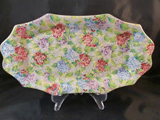 "Vintage James Kent chintz Made in England ""Hydrangea""  TRAY   DISH        DAMAGE"