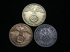 Rare! Nazi Coin WW2 3rd Reich German Swastika Lot