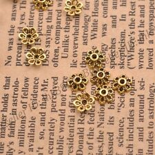 100Pcs Tibetan Silver/Gold Metal Flower Loose Spacer Beads Caps Lots 6MM DB3012