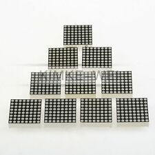 10x 3mm Rot 8x8 LED Anzeige Dot Matrix Display Punktmatrix Modul