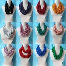 *US Seller*wholesale lot of 10 circle loop long wrap infinity scarf