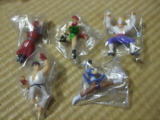 Street Fighter RYU/CHUN-LI/VEGA/Balrog/Cammy Mini Figures Set Used Japan