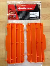 POLISPORT RADIATOR LOUVRES RAD GUARDS KTM SX SXF 07-15 ORANGE MOTOCROSS ENDURO