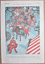 JOUENNF 1920 Vintage French Art Print AMERICAN TOURISTS SAM HARRY STILSON Satire