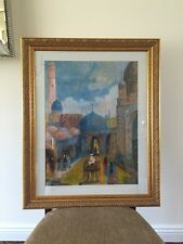 islamic Original Colored Pencil Painting, 1950-1960, Signed