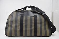 Authentic Fendi Boston Bag  Black PVC 122625
