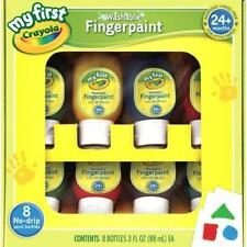 Crayola Washable Finger Paint 8 Bottles With Easy Clean Pour To Minimize Mess Ne