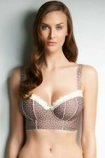 NEW Freya 1313 Carys Underwire Padded Longline Bra 36E Brown Sexy