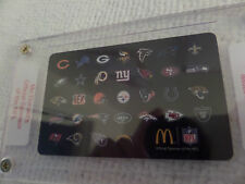 MC DONALD'S,  OFFICIAL SPONSOR OF THE NFL, 2014 TEAM LOGO ARCH CARD IN HOLDER**