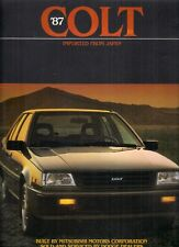 Dodge Colt 3-dr & 4-dr 1987 USA Market Sales Brochure E DL Premier Lancer