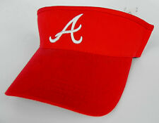 ATLANTA BRAVES RED MLB VINTAGE VISOR CAP HAT  BY ANNCO NWT!