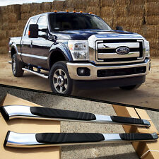 "99-15 Ford F250 Crew Cab Aluminum Nerf Bars Pair Set Side Step OE Style 5"" Oval"