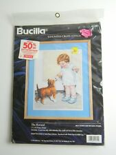 Bucilla Counted Cross Stitch Kit 41341 The Reward - Little Girl and Dog, 1996