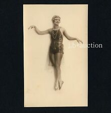 Wien EROTIC ART DECO BALLET DANCER GIRL Spitzen-Tänzerin * Vintage 20s Photo PC