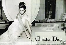 Publicité advertising 1995 (2 pages) Haute couture Christian Dior Carla Bruni