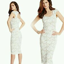 GUESS by Marciano white Cherisse Lace Dress size S
