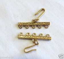 #353 - Vintage Goldtone Metal 5-Strand Spacer Bars (1 set)