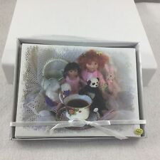MDCC 2016 Berdine Creedy Event Gift Note Card Set w Doll & Tea Design Background