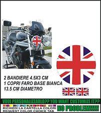 kit adesivi stickers compatibili triumph  faro bandiera