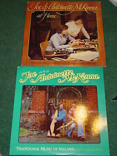 joe and antoinette mckenna 2 record lot at home & traditional music of ireland