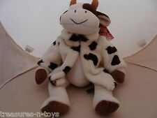 RUSS MOOELLA STUFFED COW  NEW WITH DAMAGED TAG