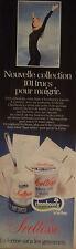 PUBLICITÉ 1978 SVELTESSE YOGHOURT 101 TRUCS POUR MAIGRIR CHAMBOURCY -ADVERTISING