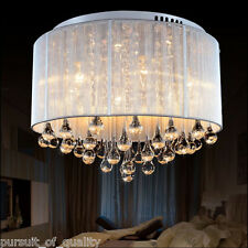 HQ Romantic Bedroom K9 Clear Crystal Chandeliers Ceiling Fixture Lighting us
