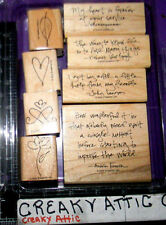 STAMPIN UP SAGE ADVICE 8 RUBBER STAMPS SHAKESPEARE LENNON ANNE FRANK VAN GOGH