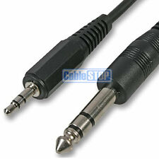 "1.8M - 6.35mm Stereo Male 1/4"" Jack to 3.5mm Headphone Plug Audio Cable Lead"