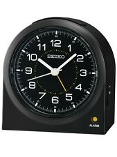 *BRAND NEW* Seiko Black Dial Alarm Clock Watch QHE085KLH