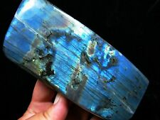 two sided blue fire rainbow natural labradorite quartz crystal rough diamond